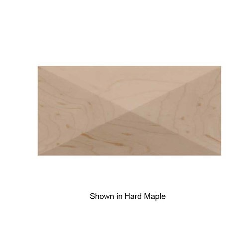 Brown Wood Small Apex Tile Unfinished Cherry 01901017CH1