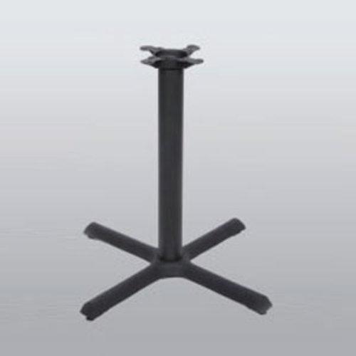 "Peter Meier Table Base 30"" x 30"" End Style X 40"" High-Black Matte Finish 2030-40-MT"
