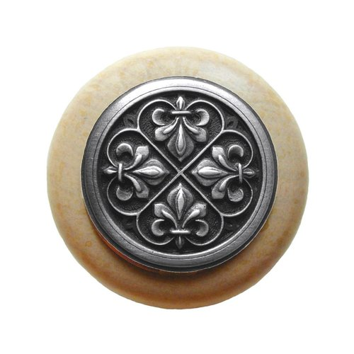 Notting Hill Olde World 1-1/2 Inch Diameter Antique Pewter Cabinet Knob NHW-760N-AP