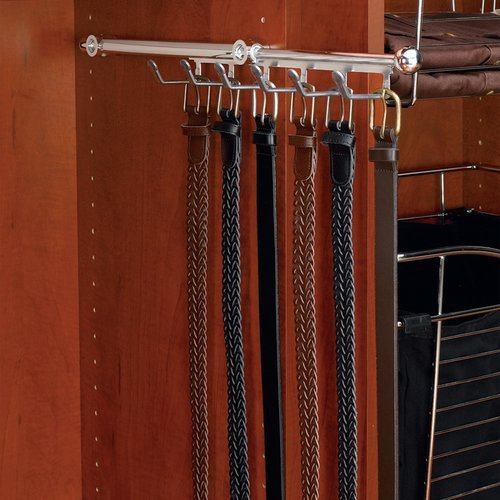 Rev-A-Shelf Belt/Scarf 12 inch Organizer Satin Nickel CBSR-13-SN