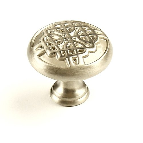 Highlander 1-3/8 Inch Diameter Dull Satin Nickel Cabinet Knob <small>(#29217-DSN)</small>