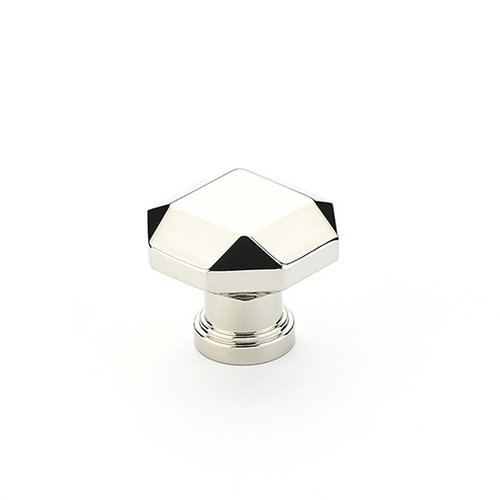 Schaub and Company Menlo Park 1-1/4 Inch Diameter Polished Nickel Cabinet Knob 531-PN