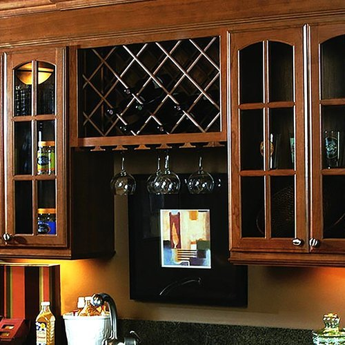 Omega National Products 30X12 Red Oak Stemware Rack S9620OUF1