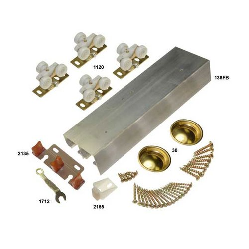 "Johnson Hardware 138F Series Bypass Track & Hardware Set for 2 Doors 60"" 138F602D"