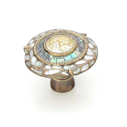 Schaub and Company Fair Isle 1-1/2 Inch Diameter Aged Dover Cabinet Knob 651-AD