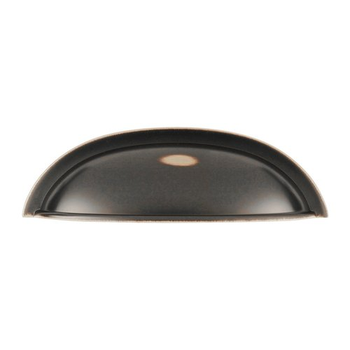 Hickory Hardware Williamsburg 3 Inch Center to Center Oil Rubbed Bronze Highlighted Cabinet Cup Pull P3077-OBH