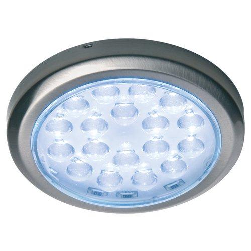 Hafele Luminoso 12V LED Surface Mount Spot Brushed Steel/Cool White 830.64.930