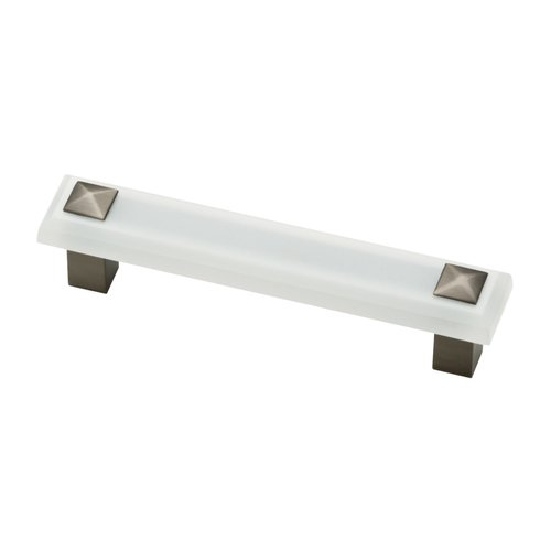 Liberty Hardware Kaley 3-3/4 Inch Center to Center Frosted/Heirloom Silver Cabinet Pull P30939-FWS-C