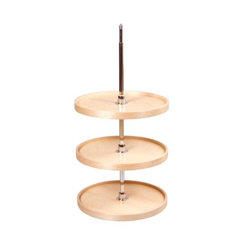 "22"" Full Round Lazy Susan - 3 Shelf With Hardware <small>(#CON22FRPF)</small>"