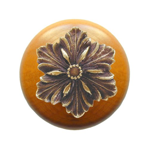 Notting Hill Classic 1-1/2 Inch Diameter Antique Brass Cabinet Knob NHW-725M-AB