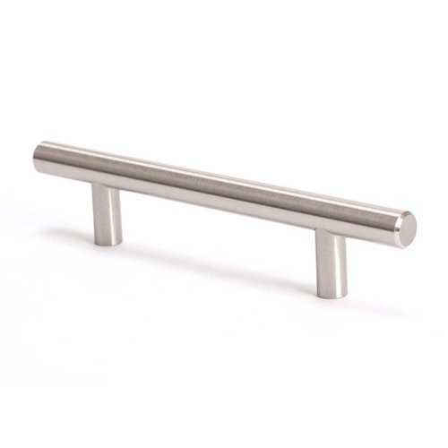 Berenson Advantage Plus 7 3-3/4 Inch Center to Center Brushed Nickel Cabinet Pull 9401-2BPN-P