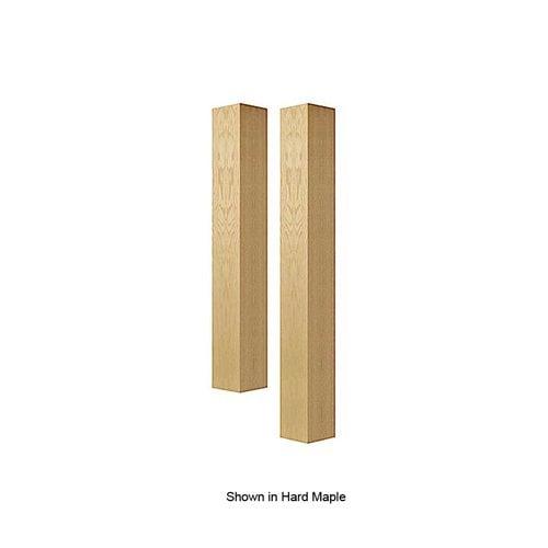 Brown Wood 6 inch Square Island Column Unfinished Alder 01626010AL1
