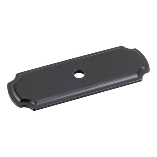 "Jeffrey Alexander Cabinet Knob Backplate 2-13/16"" L - Matte Black B812-BLK"