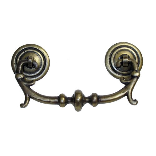 Gado Gado Bail Pulls 2-3/4 Inch Center to Center Unlacquered Antique Brass Cabinet Bail Pull HBA7012