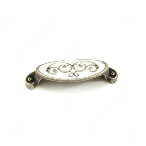 Richelieu Art Deco 2-1/2 Inch Center to Center Faux Iron Cabinet Cup Pull 1513064904