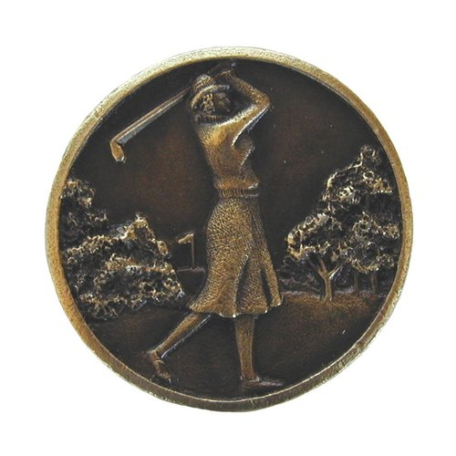 Notting Hill Great Outdoors 1-1/8 Inch Diameter Antique Brass Cabinet Knob NHK-131-AB