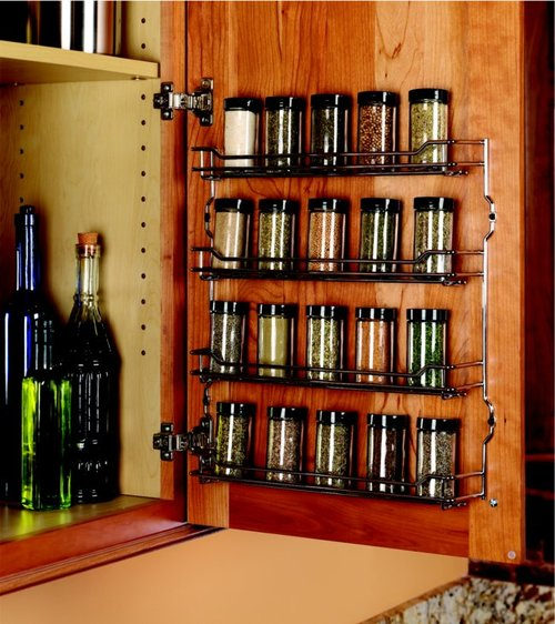 Kessebohmer Spice Rack 15-3/8 inch Wide Champagne Finish 543.19.880