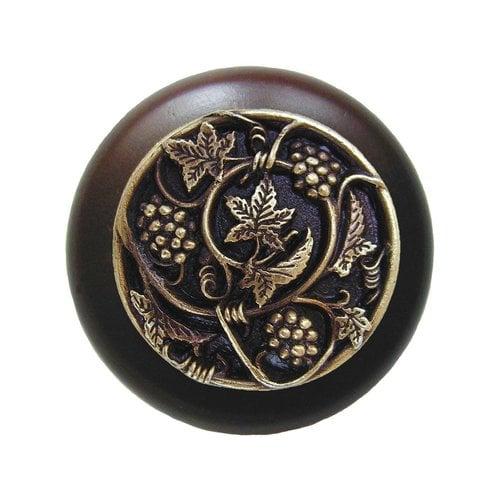 Notting Hill Tuscan 1-1/2 Inch Diameter Antique Brass Cabinet Knob NHW-729W-AB