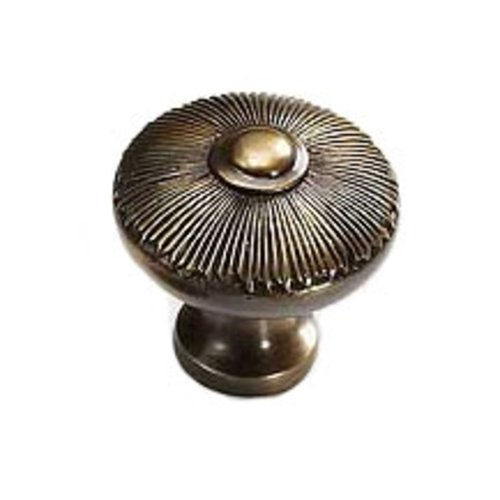 Schaub and Company Sunburst 1-1/2 Inch Diameter Estate Dover Cabinet Knob 974-ED