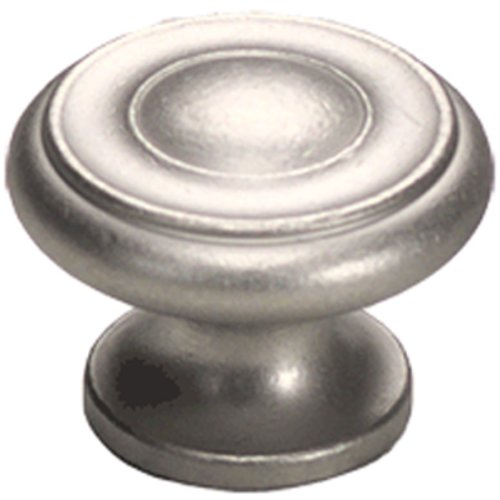 Schaub and Company Solid Brass Traditional Designs 1-1/2 Inch Diameter Distressed Nickel Cabinet Knob 704-DN