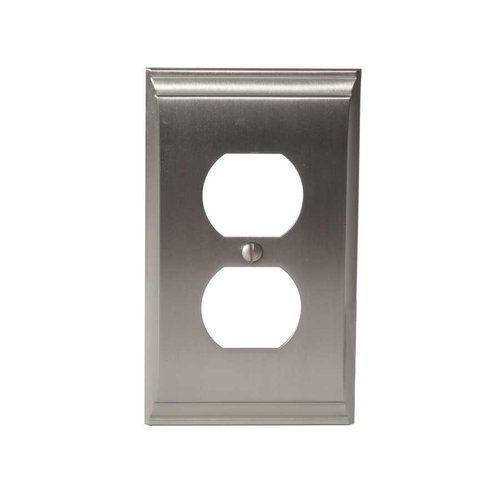 Amerock Candler One Receptacle Wall Plate Satin Nickel BP36508G10