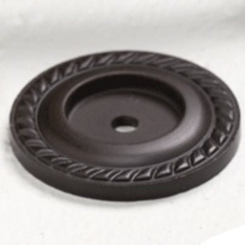 Montcalm Forged Solid Brass 1-1/2 Inch Diameter Oil Rubbed Bronze Back-plate <small>(#795-10B)</small>