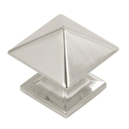 Hickory Hardware Studio 1-1/4 Inch Diameter Bright Nickel Cabinet Knob P3015-14