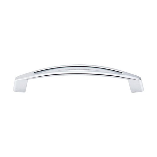 Nouveau 5-1/16 Inch Center to Center Polished Chrome Cabinet Pull <small>(#M390)</small>
