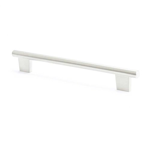 Euroline 7-9/16 Inch Center to Center Brushed Nickel Cabinet Pull <small>(#2962-1BPN-C)</small>