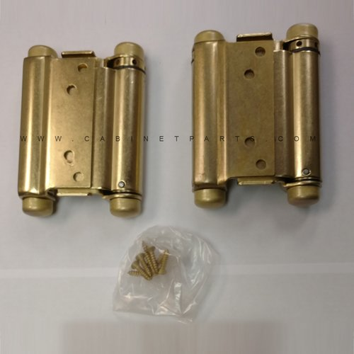 "Bommer Industries 3029-4 4"" Double Acting Mortise Spring Hinge - Satin Brass 3029-4-633"