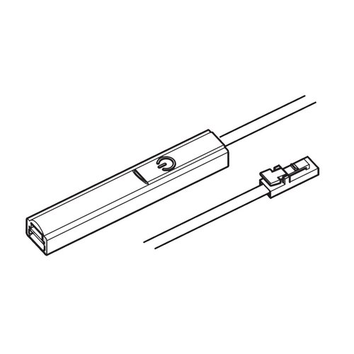 """Hafele Loox 2024 LED Driver Connection Cable with Dimmer 78-3/4"""" 833.73.701"""