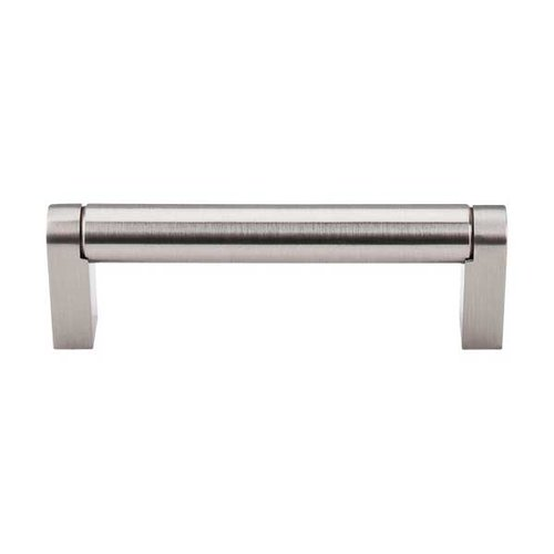 Top Knobs Bar Pull 3-3/4 Inch Center to Center Brushed Satin Nickel Cabinet Pull M1002