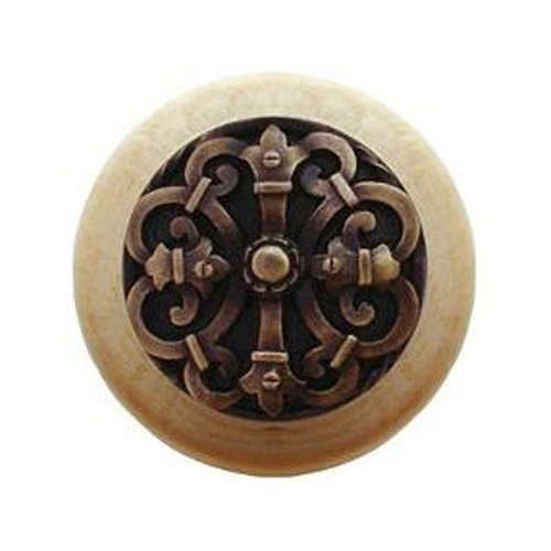 Notting Hill Olde World 1-1/2 Inch Diameter Antique Brass Cabinet Knob NHW-776N-AB