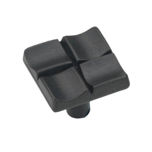 Hickory Hardware Tidal 1 Inch Diameter Black Iron Cabinet Knob P3457-BI