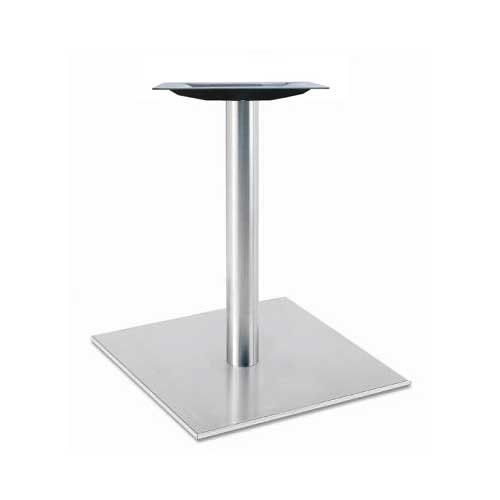 """Peter Meier 30"""" Square Table Base - Stainless Steel 28-5/8"""" H 5030-28-SS"""