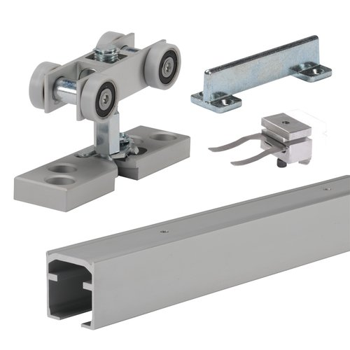 Grant Door Hardware by Hettich Grant XHD Single Track Set For Heavy Duty Doors 8 feet Anodized 9199511