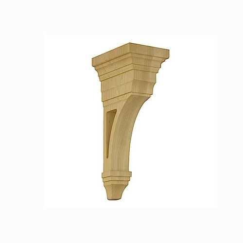Brown Wood Arts & Crafts Open Corbel Unfinished Hard Maple 01607013HM1