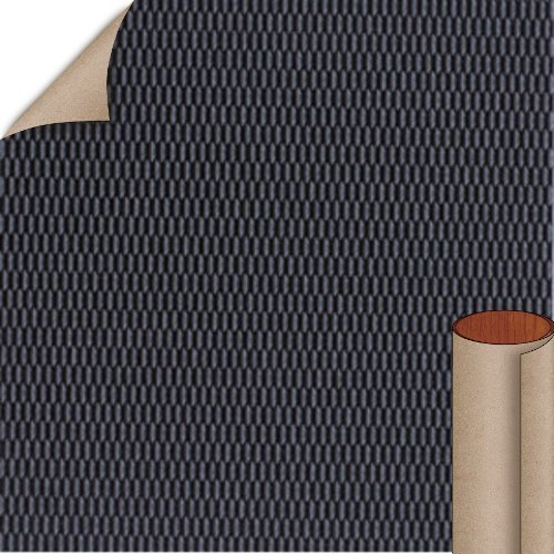 Nevamar Basic Black Hautelink Textured Finish 5 ft. x 12 ft. Countertop Grade Laminate Sheet HLT001T-T-H5-60X144
