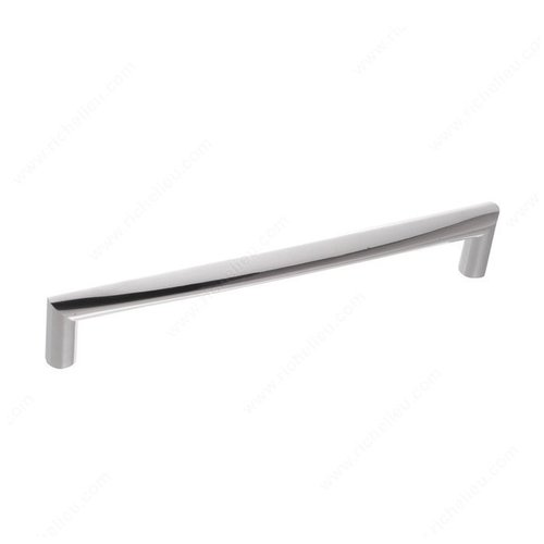 Contempo 7-9/16 Inch Center to Center Chrome Cabinet Pull <small>(#21683192140)</small>