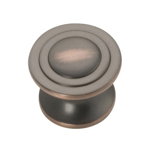 Deco 1-1/4 Inch Diameter Oil Rubbed Bronze Highlighted Cabinet Knob <small>(#P3101-OBH)</small>