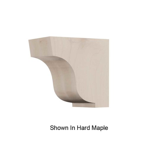 Brown Wood Small Simplicity Corbel Unfinished Quarter Sawn Red Oak 01607005QS1