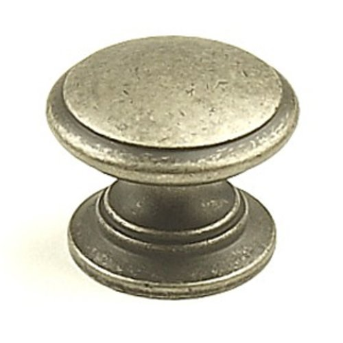 Hartford 1-1/4 Inch Diameter Aged Pewter Cabinet Knob <small>(#12816-AP)</small>