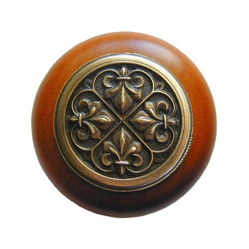 Notting Hill Olde World 1-1/2 Inch Diameter Antique Brass Cabinet Knob NHW-760C-AB