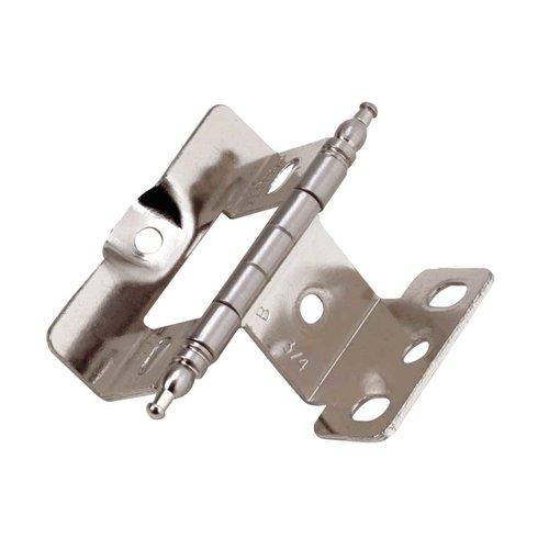 Amerock Full Inset Minaret Tip Hinge Sterling Nickel - Sold Each PK3175TMG9