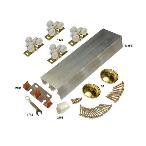 "Johnson Hardware 138F Series Bypass Track and Hardware Set for 2 Doors 48"" 138F482D"