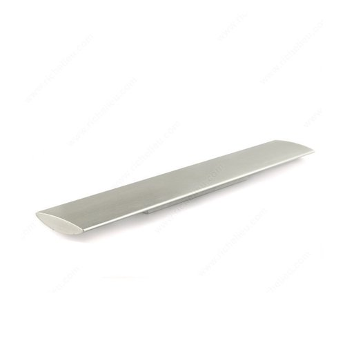 Cut Out 3-3/4 Inch Center to Center Brushed Nickel Cabinet Pull <small>(#6185320195)</small>