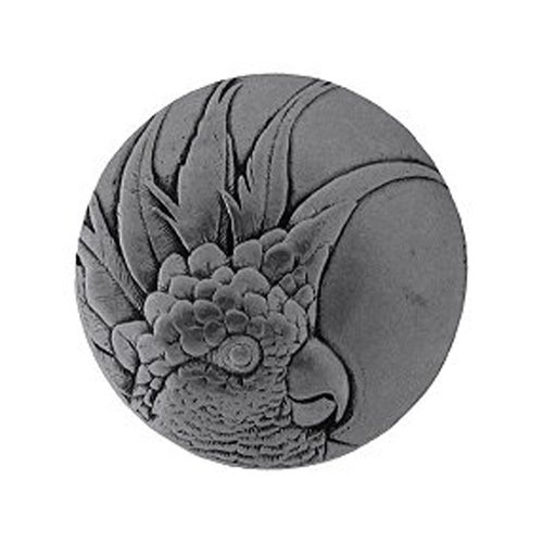 Tropical 2 Inch Diameter Brilliant Pewter Cabinet Knob <small>(#NHK-327-BP-L)</small>