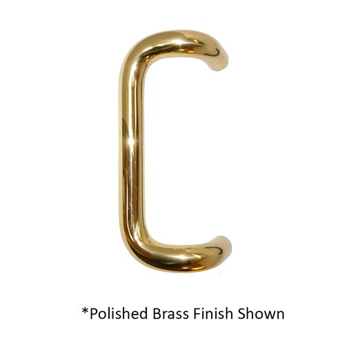 "Offset Door Pull 12"" C/C Satin Brass <small>(#1158-606)</small>"