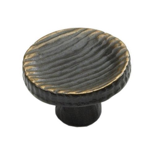 Schaub and Company Ovale Designs 1-3/4 Inch Diameter Antique Bronze Cabinet Knob 776-AZ