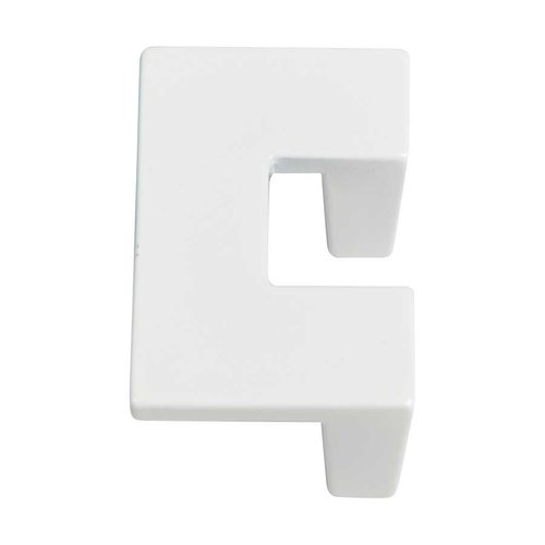 Atlas Homewares U-Turn 1-1/4 Inch Center to Center White Gloss Cabinet Pull A845-WG